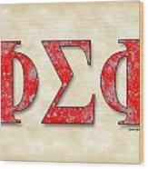 Phi Sigma Phi - Parchment Wood Print