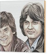 Phil And Don Everly Wood Print
