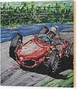 Phil Hill At Nurburgring. Wood Print