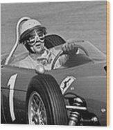 Phil Hill Ferrari Close Up Wood Print