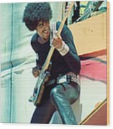 Phil Lynott Of Thin Lizzy - Black Rose Tour Day On The Green 7-4-79  Wood Print