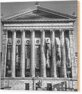 Philadelphia Art Museum Back 1 Bw Wood Print