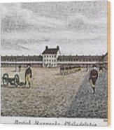 Philadelphia: Barracks Wood Print