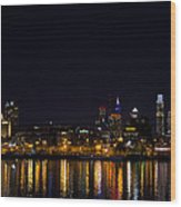 Philadelphia - Bright Lights Big City Wood Print by Bill Cannon