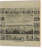 Philadelphia By J Serz Wood Print