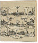 Philadelphia By James Fuller Queen Wood Print