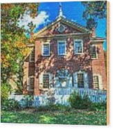 Philadelphia Carpenter's Hall Back View 2 Wood Print