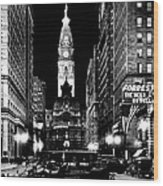 Philadelphia City Hall 1916 Wood Print