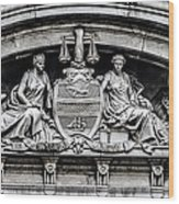 Philadelphia City Hall - City Seal  Wood Print