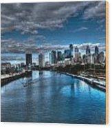 Philadelphia  Cityscape 2 Wood Print