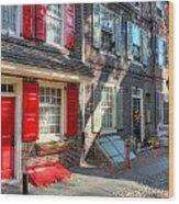 Philadelphia Elphreth's Alley Wood Print
