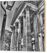Philadelphia First Bank 2 Bw Wood Print