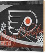 Philadelphia Flyers Christmas Wood Print