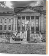 Philadelphia Franklin Museum 2 Bw Wood Print