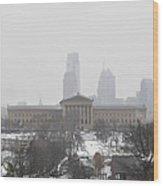 Philadelphia From Lemon Hill Wood Print