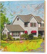 Philadelphia House Wood Print