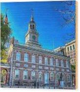 Philadelphia Independence Hall 9 Wood Print