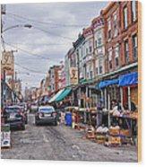 Philadelphia Italian Market 2 Wood Print