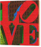 Philadelphia Love - Painterly V1 Wood Print