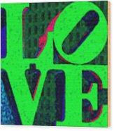 Philadelphia Love - Painterly V3 Wood Print by Wingsdomain Art and Photography