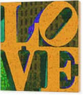 Philadelphia Love - Painterly V4 Wood Print by Wingsdomain Art and Photography