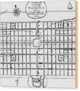 Philadelphia: Map, 1683 Wood Print