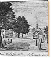 Philadelphia Market, 1788 Wood Print