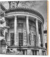 Philadelphia Merchants Exchange Bw Wood Print