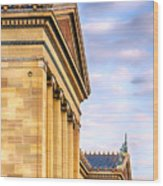 Philadelphia Museum Of Art Facade Wood Print