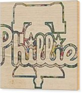 Philadelphia Phillies Logo Art Wood Print