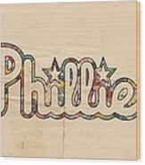 Philadelphia Phillies Poster Art Wood Print
