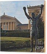 Philadelphia - Rocky  Wood Print