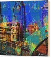 Philadelphia Skyline Wood Print