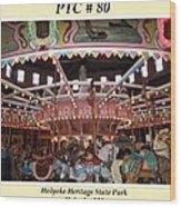 Philadelphia Toboggan Company Carousel Wood Print