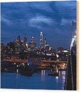 Philadelphia Twilight Wood Print