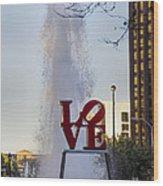 Philadelphia's Love Story Wood Print