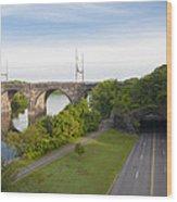 Philadelphia's Rock Tunnel - Kelly Drive Wood Print