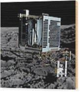 Philae Lander On Comet 67pc-g Wood Print