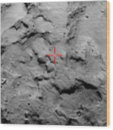Philae Lander Touchdown Point On Comet Wood Print