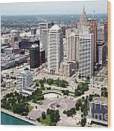 Philip A Hart Plaza Detroit Wood Print