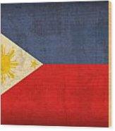Philippines Flag Vintage Distressed Finish Wood Print