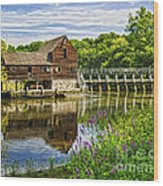 Philipsburg Mill Wood Print