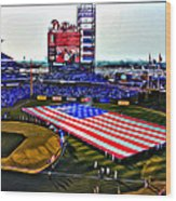 Phillies American Wood Print by Alice Gipson