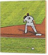 Phillies First Baseman Wood Print