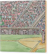 Phillies Game Wood Print