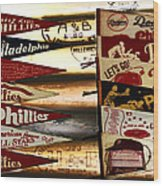 Phillies Pennants Wood Print