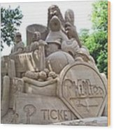 Phillies Sandsculpture Wood Print