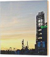 Phillies Stadium At Dawn Wood Print