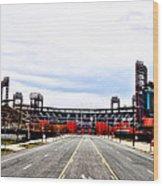 Phillies Stadium - Citizens Bank Park Wood Print