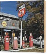 Phillips 66 With The Ranchero Wood Print